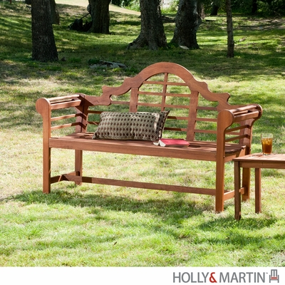 SEI Lutyens Bench Dark Brown