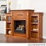 Holly & Martin Fredricksburg Gel Fireplace with Bookcases - Glazed Pine