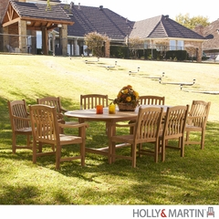 SEI 9 Piece Teak Dining Set