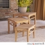 SEI 3 Pcs Teak Nesting Table Set