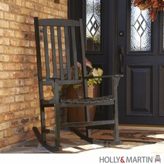 Holly & Martin Jameson Porch Rocker - Black
