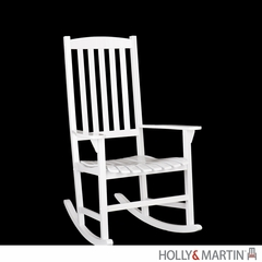 SEI Hardwood Porch Rocker - White
