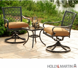 Holly & Martin Laguna 10pc Aluminum Dining & Bistro Set by Agio