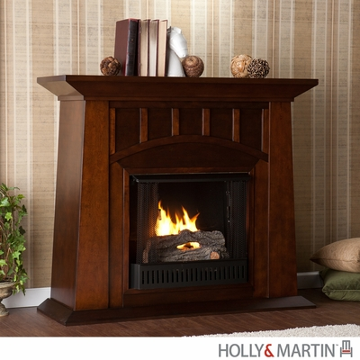 SEI Lowery Gel Fuel Fireplace - Espresso