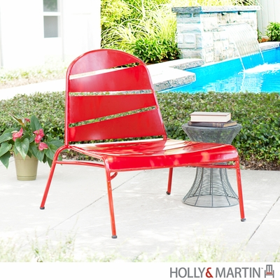 Holly & Martin Loggins Indoor / Outdoor Lounge Chair - Red