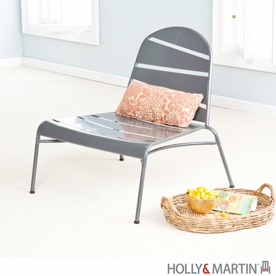 Holly & Martin Loggins Indoor / Outdoor Lounge Chair - Silver