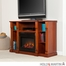 SEI Kendall Electric Media Fireplace - Classic Mahogany