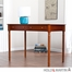 Holly & Martin Parker 2-Drawer Writing Desk - Brown Mahogany