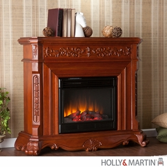 SEI Hartley Electric Fireplace - Classic Mahogany
