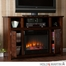SEI Hensley Electric Media Fireplace - Espresso