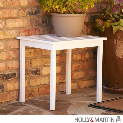 SEI White End Table