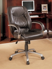 Home Office Chair in Brown Leather - Coaster