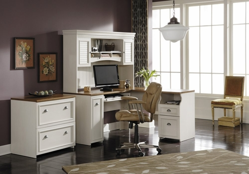 Home Office Furniture Desk Set 1 - Fairview Collection - Bush Office Furniture - FV-OSET-1