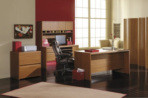 Home Office Furniture Desk Set 1 - Northfield Collection - Bush Office Furniture - NF-OSET-1