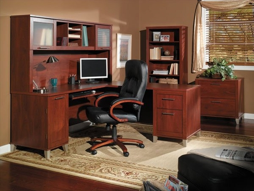 Home Office Furniture Desk Set 1 - Somerset Collection - Bush Office Furniture - SOM-OSET-1-HC
