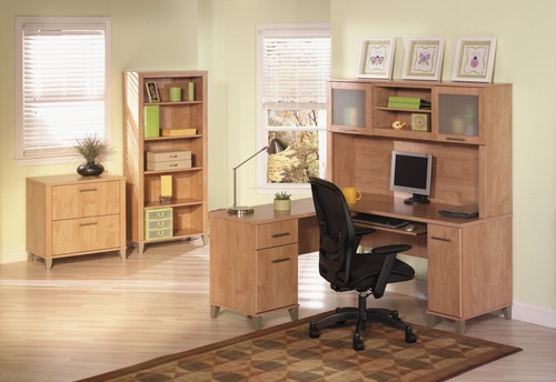 Home Office Furniture Desk Set 1 - Somerset Collection - Bush Office Furniture - SOM-OSET-1-MC