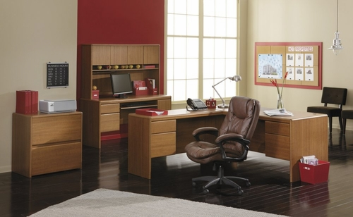 Home Office Furniture Desk Set 2 - Northfield Collection - Bush Office Furniture - NF-OSET-2