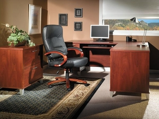 Home Office Furniture Desk Set 2 - Somerset Collection - Bush Office Furniture - SOM-OSET-2-HC