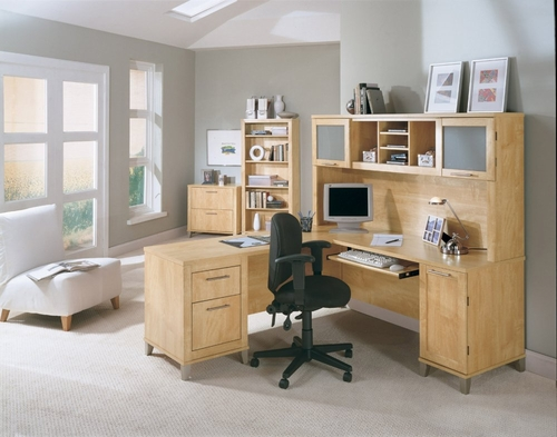 Home Office Furniture Desk Set 2 - Somerset Collection - Bush Office Furniture - SOM-OSET-2-MC