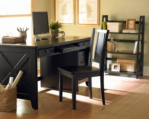 Home Office Furniture Desk Set in Black - 481BK-OSET