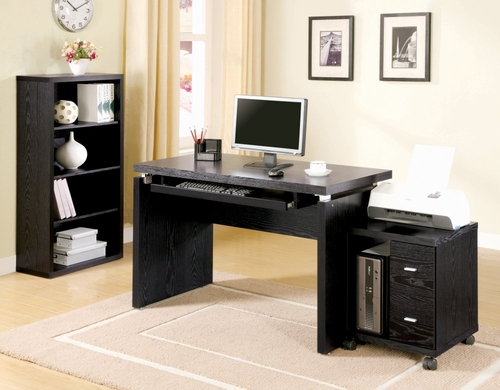 Home Office Furniture Desk Set in Black - Coaster