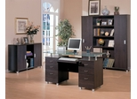 Home Office Furniture Desk Set in Cappuccino - Coaster