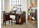 Home Office Furniture Desk Set in Espresso - 482-OSET