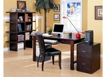 Home Office Furniture Desk Set in Espresso - Coaster