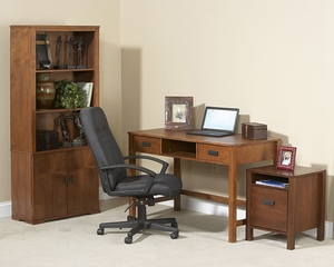 Home Office Furniture Desk Set in Mahogany - Mission Nuevo - Inspirations by Broyhill - 305-SET