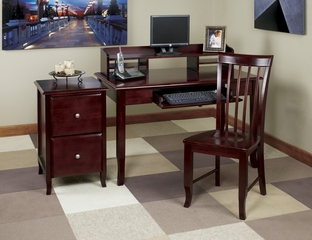 Home Office Furniture Desk Set in Merlot - Office Star - OSET-2