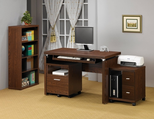 Home Office Furniture Desk Set in Oak - Coaster