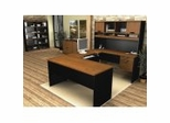 Home Office Furniture Desk Set in Tuscany Brown and Black - Innova - Bestar Office Furniture