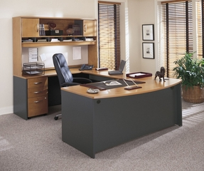 Home Office Furniture / Executive Office Furniture Set 2 - Series C Natural Cherry Collection - Bush Office Furniture - SC-PKG-2-NC