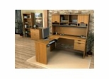 Home Office Furniture Set in Cappuccino Cherry - Innova - Bestar Office Furniture