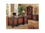 Home Office Furniture Set in Cappuccino / Dark Oak - Coaster