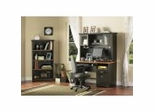 Home Office Furniture Set in Spice Wood/Ebony - South Shore Furniture
