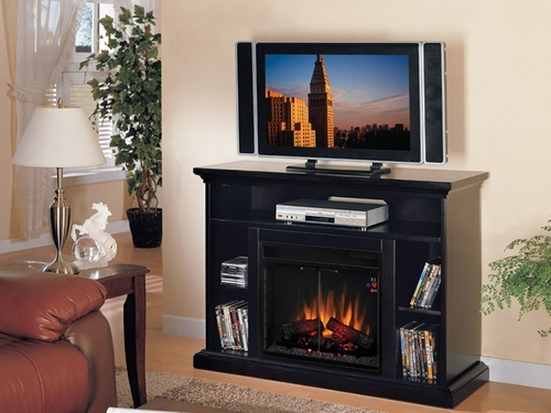 Home Theater Electric Fireplace by Classic Flame in Espresso - Beverly - 23MM374-E451