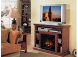 Home Theater Electric Fireplace by Classic Flame in Premium Cherry - Beverly - 23MM374-C202