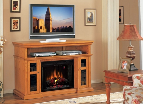 Home Theater Electric Fireplace by Classic Flame in Premium Oak - Pasadena - 28MM468-O107