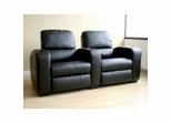 Home Theater Seating - 2 Piece Set in Black - HT638-2SEAT-BLK