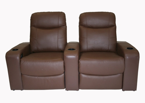 Home Theater Seating - 2 Piece Set in Brown - 8326-2SEAT-BRN