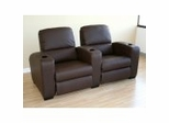 Home Theater Seating - 2 Piece Set in Brown - HT638-2SEAT-BRN