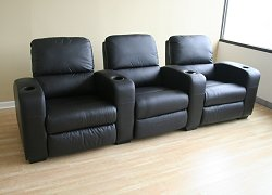 Home Theater Seating - 3 Piece Set in Black - HT638-3SEAT-BLK