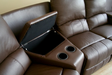 Home Theater Seating - 7 Piece Set in Brown - 8802-BRN