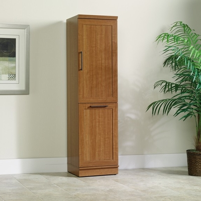 Homeplus Storage Cabinet Reversible Upper Door Sienna Oak - Sauder Furniture - 411975
