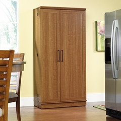Homeplus Storage Cabinet Swing Out Doors Sienna Oak - Sauder Furniture - 411965
