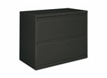 Hon 2-Drawer Lateral File Cabinet W/Lock - Charcoal - HON882LS