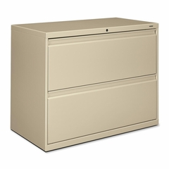 Hon 2-Drawer Lateral File Cabinet W/Lock - Putty - HON882LL