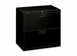 Hon 2-Drawer Lateral Filing Cabinet - Black - HON572LP