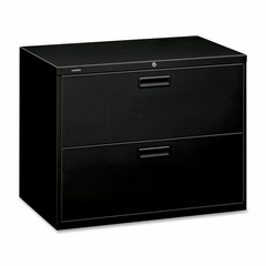 Hon 2-Drawer Lateral Filing Cabinet - Black - HON582LP